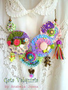 Garden the fiber necklace. So beautiful. OOAK by AnabelaJoana, €25.00