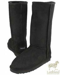 Sheepskin Slippers, Sheepskin Rug, Sheepskin Boots, Bearpaw Boots, Ugg Boots, Lady, Black Boots, Uggs, Free Uk