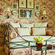 Decorating Ideas: Toile Fabric (Lots of toile decorating ideas. I love the navy toile room idea) French Decor, French Country Decorating, Country French, French Style, French Cottage, Cottage Style, Toile Bedding, Bedding Sets, Ikea