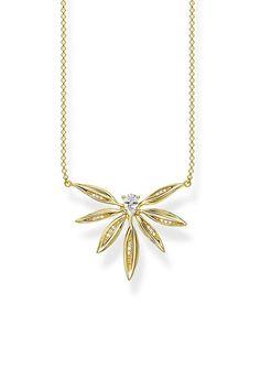 Diese Halskette von Thomas Sabo ist vom Blattwerk der Natur inspiriert. Gold Necklace, Pendant Necklace, Gold Paint, Nature, Nice Asses, Gold Pendant Necklace, Drop Necklace