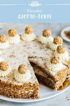 Giotto-Torte - My most creative food recipe list Fun Baking Recipes, Sweet Recipes, Cake Recipes From Scratch, Food Cakes, Yummy Drinks, No Bake Cake, Baked Goods, Food And Drink, Sweets