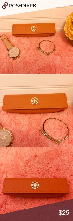 Tory Burch Glasses Case with Dust Bag ❤️❤️ Orange Tory Burch glasses case. The case is in like new condition and comes with dust bag. Measurements included in the photos. Tory Burch Accessories