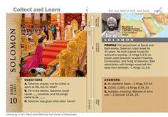 Solomon Bible card
