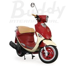 """Genuine Scooter Co. """"Buddy International"""", Pamplona color, now at Twist 'n' Scoot. www.twistnscoot.com"""