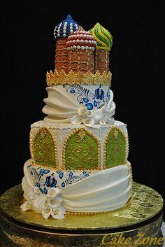 Indian Wedding Cake #indian #arabian theme #weddingcake #bungalow