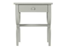 Leila Bedside Table, Grey