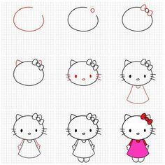 Draw Hello Kitty Random Hello Kitty Coloring Drawings Art