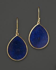 Ippolita 18K Gold Polished Rock Candy Mini Teardrop Earrings in Lapis | Bloomingdale's