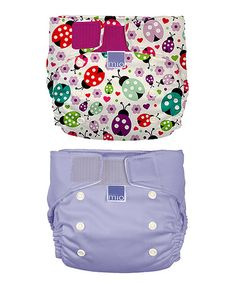 Set of Two 'Ladybird Ball' & 'Purple' Miosolo Nappies by Bambino Mio on #zulily
