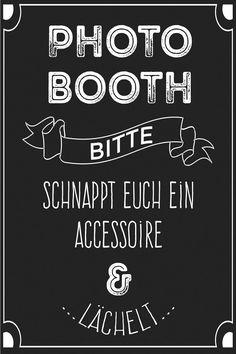Schickes Hinweis-Poster im Vintagestil als Hingucker für eure Photobooth