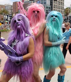 Chewbacca's Angels had one of the most creative costumes of Comic-Con
