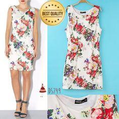 SALE High Quality Flower Dress Bodycon DS749 - http://www.afwindo.com/shopdiscount/sale-high-quality-flower-dress-bodycon-ds749/