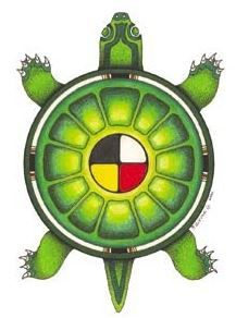 Chaos Star or double X over the Four Directions? matches the turtle X-legs forming XO on the outside circle?] Turtle_Island Housing for First Nations anything but 'free' Native American Symbols, Native American Crafts, American Indian Art, Elemento Terra, Native Tattoos, Turtle Painting, Native Design, Medicine Wheel, Tattoo Project