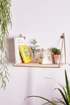 Shop Ari Single Shelf at Urban Outfitters today. Diy Hanging Shelves, Plant Shelves, Storage Shelves, Wall Shelves, Wall Hooks, Bookshelf Wall, Urban Outfitters, Teen Room Decor, Bedroom Decor
