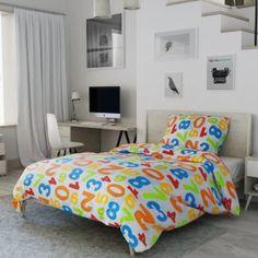 Dětské povlečení bílé červené oranžové zelené modré číslice pro nejmenší čísla Bed, Furniture, Home Decor, Decoration Home, Stream Bed, Room Decor, Home Furnishings, Beds, Home Interior Design