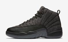 save off a703a 2ff19 Air Jordan 12 Retro Wool  Dark Grey   Black  Release Date