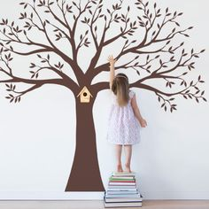 Family Tree Wall Art | Family Tree Decal - Wall Decal | SimpleShapes - Furnishings on ArtFire Pic c/o Pinterest