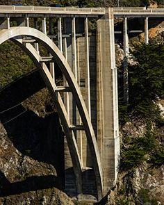 "Bixby Bridge Support, Highway 1 , Big Sur, California - Matted Photo Art Print, 11""x 14"" Romagosa Fine Arts http://www.amazon.com/dp/B0150R4CWO/ref=cm_sw_r_pi_dp_NBn7vb011APKC"