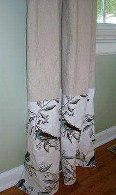 tablecloths+drop cloths=window treatment perfection