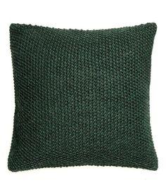 Sieh's dir an! Gestrickte Kissenhülle mit Perlmuster und Rückseite aus Baumwollqualität. Verdeckter Reißverschluss. – Unter hm.com gibt's noch viel mehr.