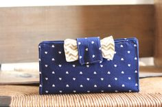 Navy and Gold Heart Women's Wallet // Great by theruffledstitch, $33.00
