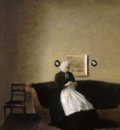 "Vilhelm Hammershøi (1864–1916) ""Interior with the Artist's Mother"""