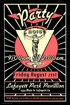 Vintage Party Poster. Click on the image to customize on PosterMyWall.