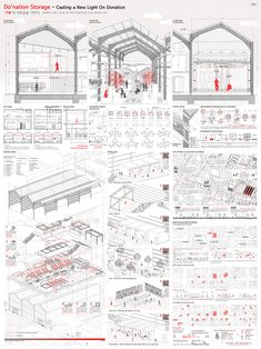 Image 60 of 81 from gallery of The 80 Best Architecture Drawings of 2017 (So Far). Architecture Concept Diagram, Architecture Presentation Board, Architecture Panel, Presentation Layout, Architecture Visualization, Architecture Student, Architecture Drawings, Architecture Portfolio, Architecture Design