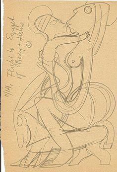The Flight into Egypt Adolf Odorfer Graphite on paper 20.5 x 13.5 cm.