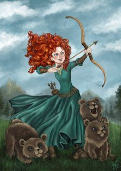 """Merida fan art by without-control.deviantart.com on @DeviantArt - From """"Brave"""""""