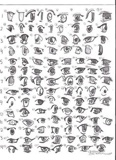 Manga Eye Drawing Reference Guide | Drawing References and Resources | Scoop.it