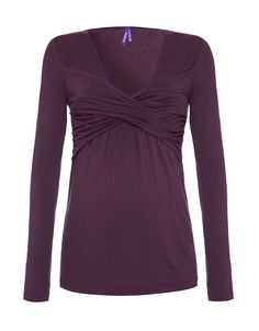 Sweetheart Knotted Long Sleeved Maternity and Nursing Top - Seraphine