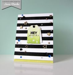 Boldly Laura - HEY you can do it - card by Laura Sterckx featuring Bubble Talk and Big Bang Confetti. #winniewalter