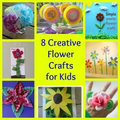 8 Amazing Kids Flower Crafts - great ideas for summer arts  crafts projects!