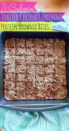 Fab Fit Friday: 20 Calorie, Low Carb Toasted Coconut Brownie Bites! – Simply Taralynn