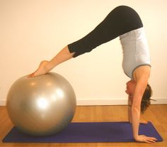 Stability ball and pilates...toast and butta