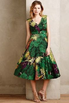 Tracy Reese Rainforest Dress #anthrofave