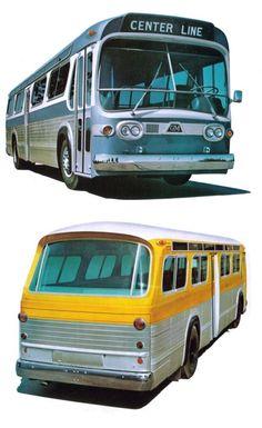 "GM's ""New Look"" Bus Gmc Trucks, Tow Truck, Fire Trucks, Bus City, School Bus Conversion, Road Train, Bus Coach, Truck Art, 3d Models"