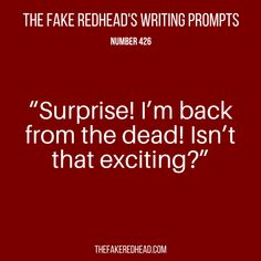 Sign Up For The Newsletter|Shop The eBooks Prompt Library The complete library of the original writing prompts written byThe Fake Redhead Prompt Library|Shop The eBooks Inspired? Click on a pr…