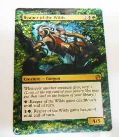 MTG Altered Painted Reaper of the Wilds Theros #WizardsoftheCoast