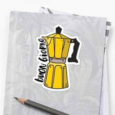 Buongiorno! Embrace your inner Italian with this cute yellow Italian Moka Pot design! • Millions of unique designs by independent artists. Find your thing. Framed Prints, Canvas Prints, Art Prints, Italy Coffee, Moka, Glossier Stickers, Floor Pillows, Duvet Covers, Finding Yourself