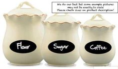 Pack of 36pcs Round & Oval Chalkboard Stickers Labels for Jars Wine Botteles