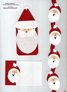 Creative memories custom cutting system and punches Santa Claus head border Christmas Scrapbook Layouts, Scrapbook Borders, Scrapbook Page Layouts, Scrapbook Cards, Christmas Border, Noel Christmas, Christmas Cards, Xmas, Punch Art