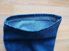 zkracování jeansů