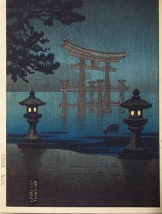 Koitsu TSUCHIYA, Miyajima in the Rain
