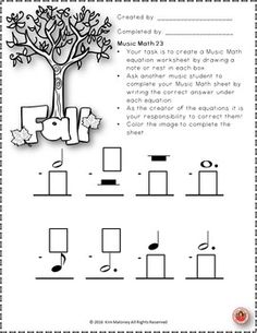 Music Math with a FALL/AUTUMN Theme!   ♫ CLICK through to preview or save for later!