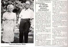 Obituary of Almanzo Wilder.