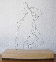 Steel wire sculpture