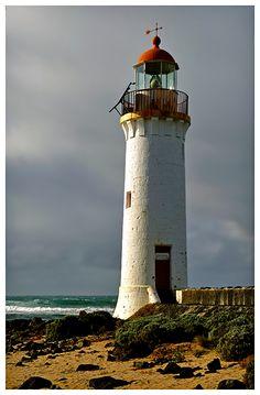 Lighthouse at Griffith Island near Port Fairy, Victoria, Australia (by francio64)