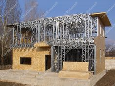 How are light steel structures produced at Light Steel Structure Factory. Light steel structures for steel houses, industrial buildings and modular houses. Steel Frame House, Steel House, Steel Buildings, Steel Structure, House Ideas, Home, Design, Galvanized Steel, Steel Frame